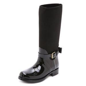 Kate Spade Bliss Rain Boots Black Sz 9